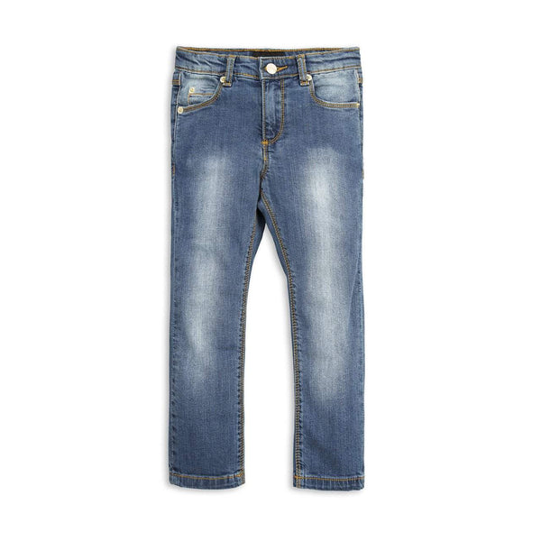 Mini Rodini Vintage Wash Organic Denim Jeans | Tiger Fit Afterpay