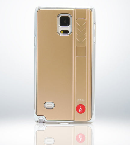 SPARX LIGHTER CASE for Samsung Note 4 in GOLD