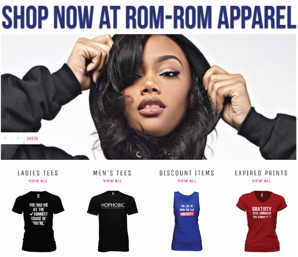 ROM ROM Apparel by Romany Malco