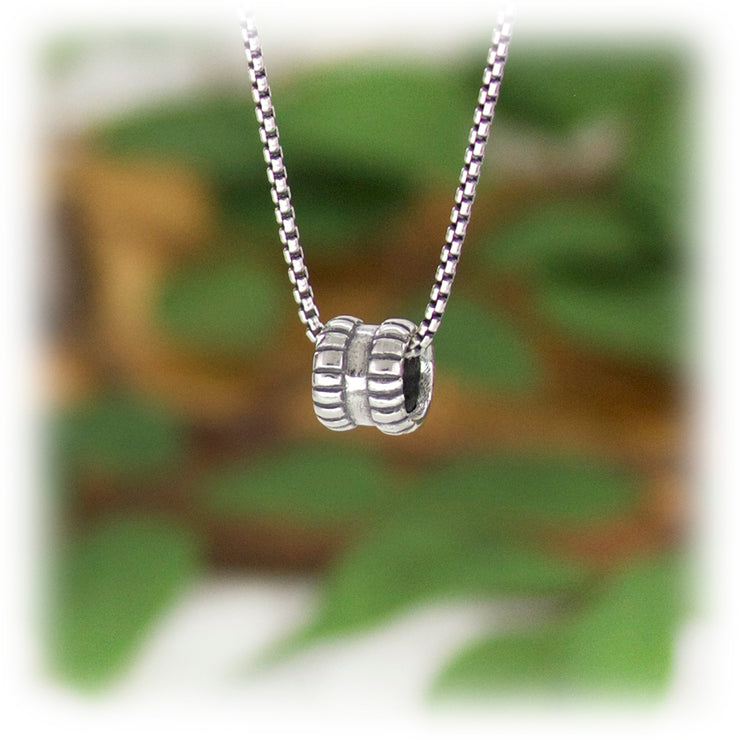Boundary Bead Hand Carved Sterling Silver Jewelry