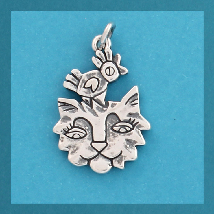 Animal Charms - Cat & Bird