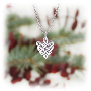 Celtic Heart Charm Handmade Sterling Silver Jewelry