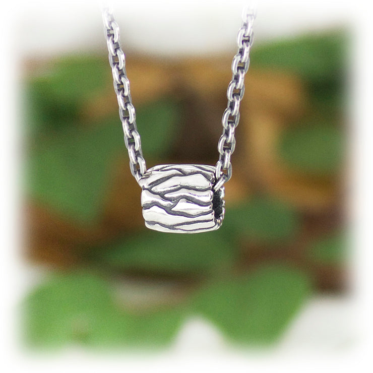 Earth Elements Bead Hand Carved Sterling Silver Jewelry