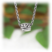 Geometric Bead Hand Carved Sterling Silver Jewelry