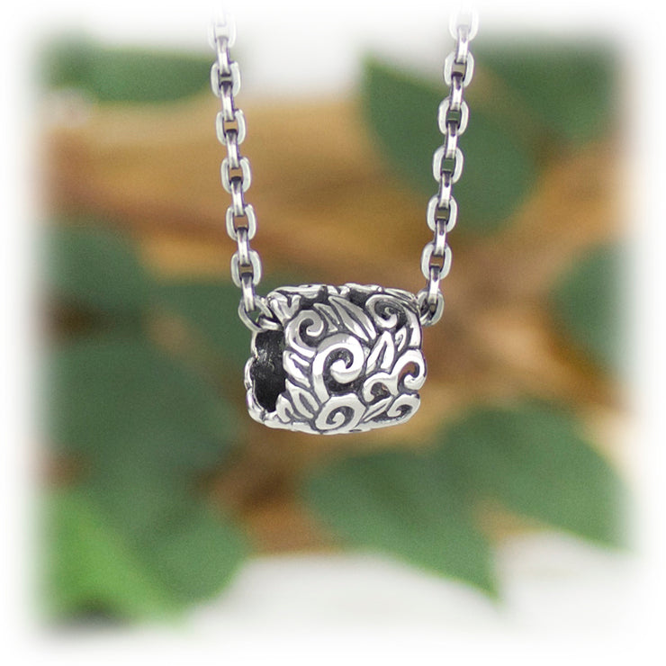 Growth Bead Hand Carved Sterling Silver Jewelry