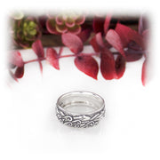 Narrow Habitat Ring Hand Carved Sterling Silver Jewelry