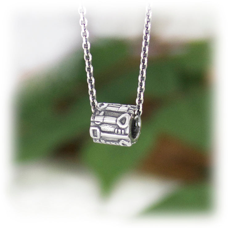 Key Seeker Bead Hand Carved Sterling Silver Jewelry