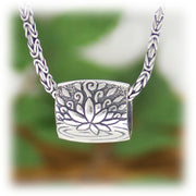 Dragonfly Lotus Bead Hand Carved Sterling Silver Jewelry