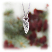 Mountain Heart Charm Handmade Sterling Silver Jewelry