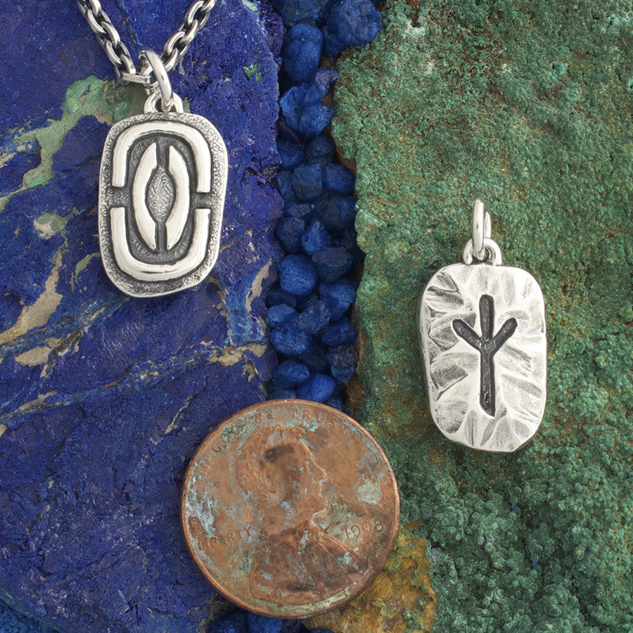 Protection algiz rune silver element jewelry buycottarizona