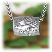 Raven Flock Bead Hand Carved Sterling Silver Jewelry