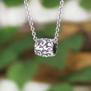 Water Elements Bead Hand Carved Sterling Silver Jewelry