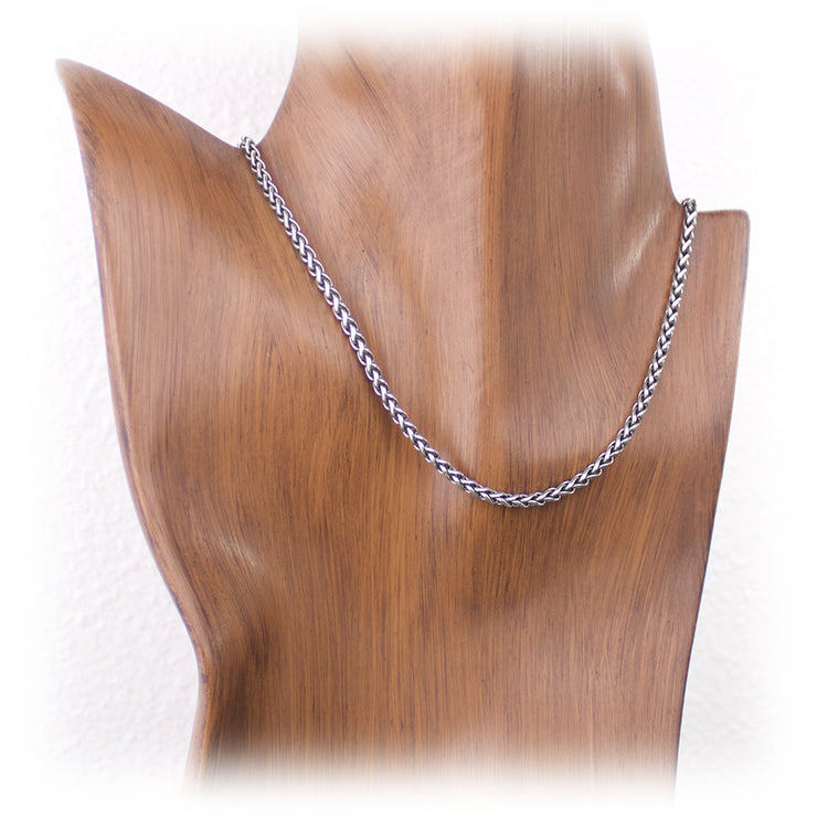 3mm Sterling Silver Wheat Chain