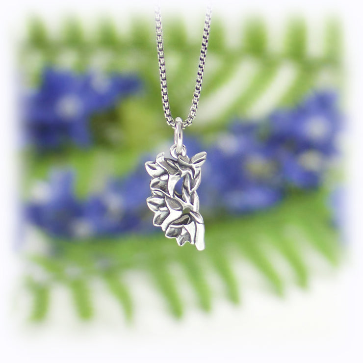 Bellflower Charm Handmade Sterling Silver Jewelry