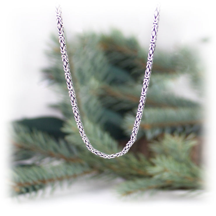 2.5mm Sterling Silver Byzantine Chain