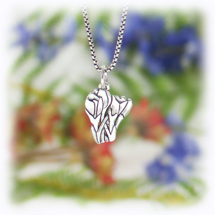 Crocus Charm Handmade Sterling Silver Jewelry