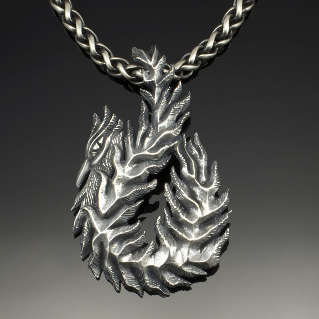Firebird pendant silver element jewelry firebird pendant aloadofball Images