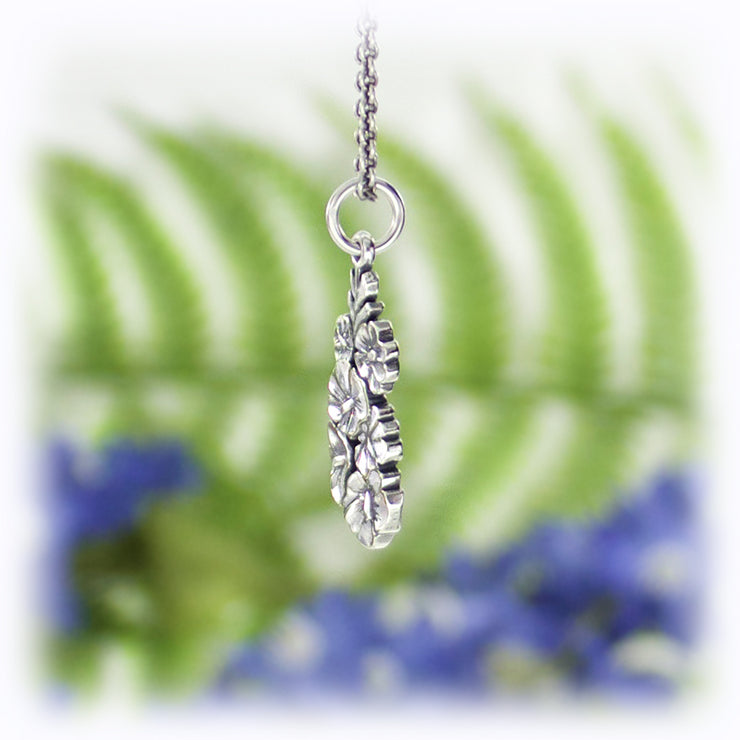 Hollyhock Flower Charm Handmade Sterling Silver Jewelry