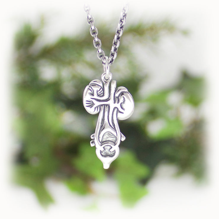 Kidney Bladder Charm Hand Carved Sterling Silver Jewelry