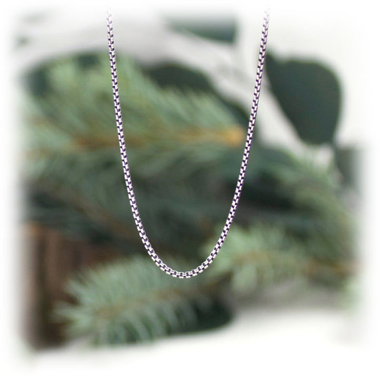 1.2mm Sterling Silver Mini Box Chain