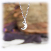 Moon Charm Astrology Hand Carved Sterling Silver Jewelry