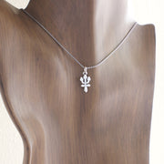 Neptune Planet Charm Astrology Hand Carved Sterling Silver Jewelry