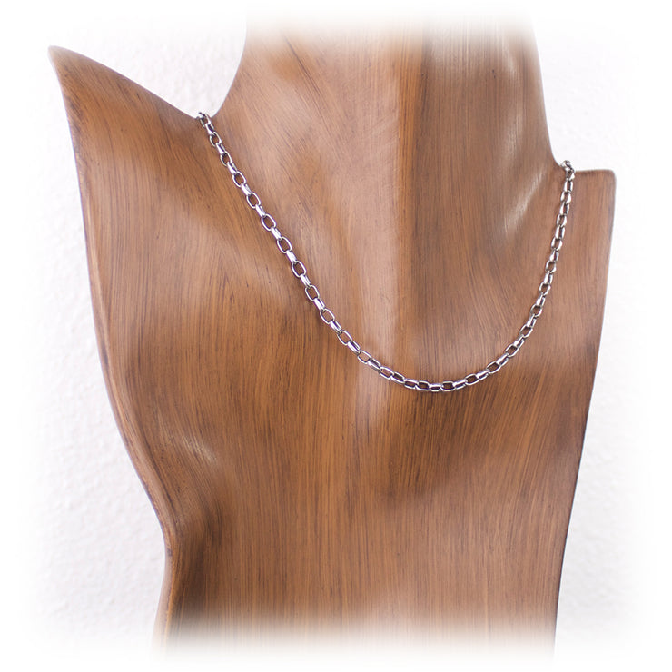 3.2mm Sterling Silver Oval Rolo Chain