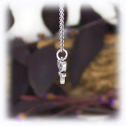 Pluto Planet Charm Astrology Hand Carved Sterling Silver Jewelry