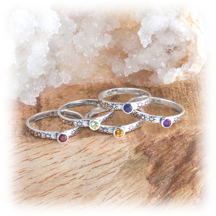 Gemstone Stacking Ring ~ Sunburst