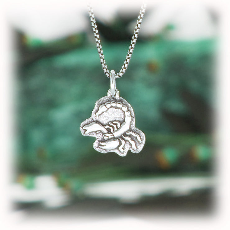 Scorpio Zodiac Charm Astrology Hand Carved Sterling Silver Jewelry