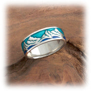 Resin Wide Band - Mountain Ring