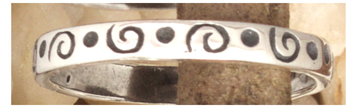 Silver Stacking Rings Sizes 3.5 to 6