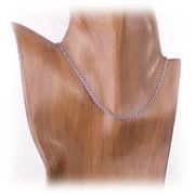 2.2mm Sterling Silver Square Cable Chain