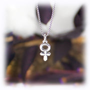 Venus Planet Charm Astrology Hand Carved Sterling Silver Jewelry