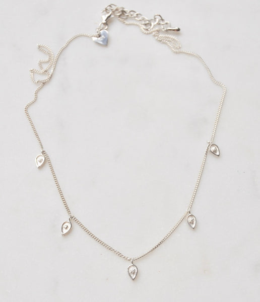 Nisha Necklace in Silver