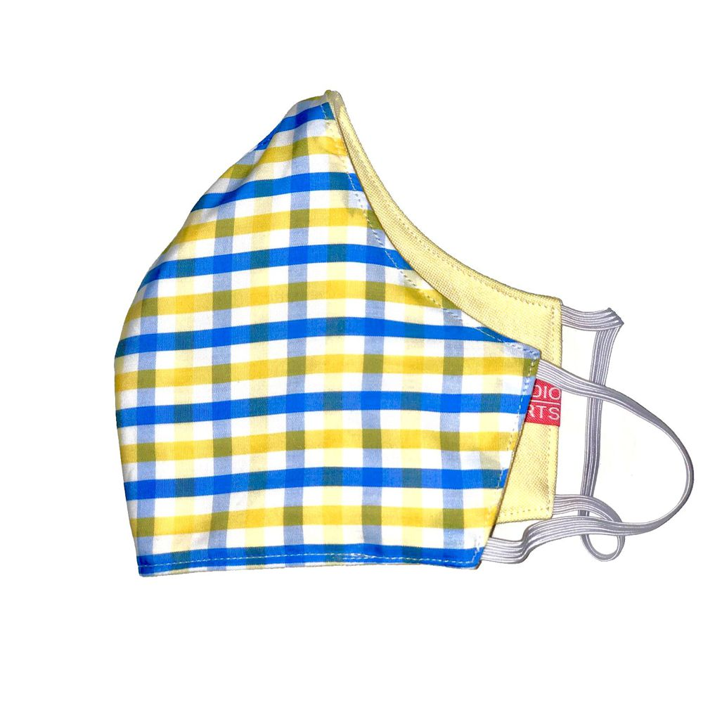 Lemon & Blue Gingham / Lemon