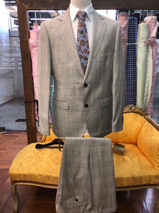 Men's Enzo Grey Check Suit