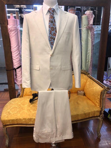 Men's Phoenix Beige Linen Suit