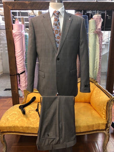 Men's Jensen Grey Check Suit