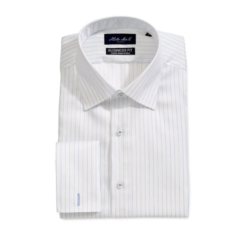 Men's Pinstripe Shirt White
