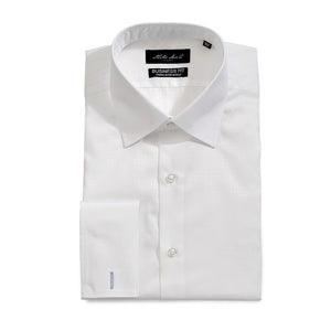 Men's Jacquard Check Shirt White