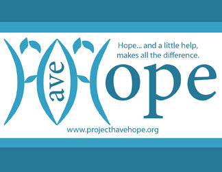 Bumper Sticker, Project Have Hope