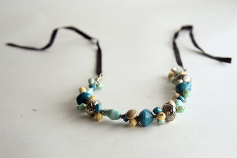 Sanaa (piece of art) Collection:  Ribbon Necklace