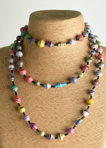 Extra-long Multicolored Necklace (Long Katoga)