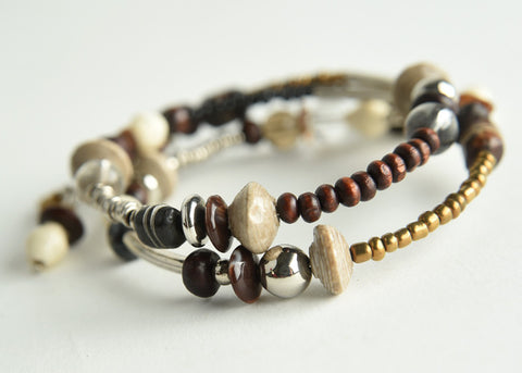 Memory Wire Bracelet (natural)