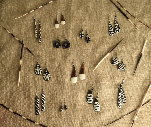 Geometric Bone Earrings (set)