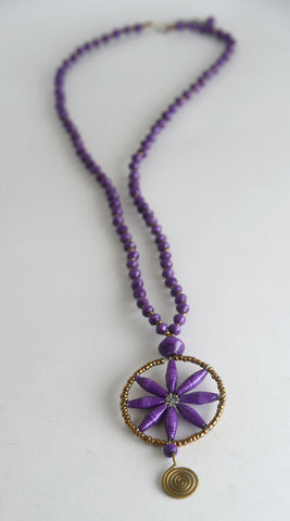 Bariki (Flower) Long Necklace