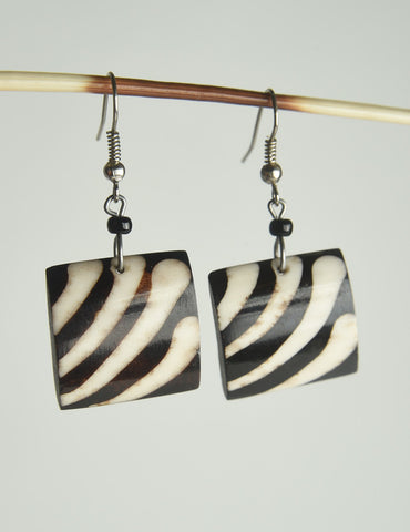 Geometric Bone Earrings