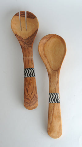 Olive Wood Serving Set