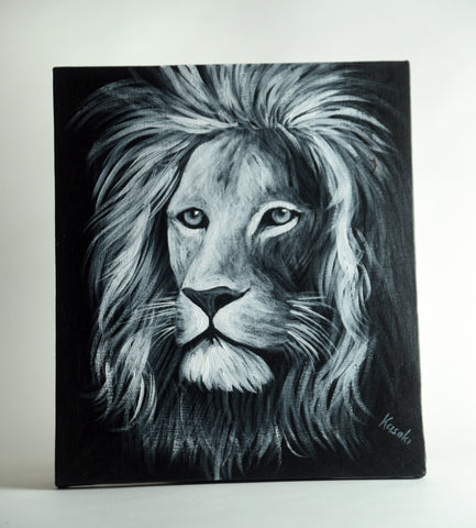 Black & White Safari Paintings